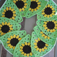 Crochet Sunflower Bunting