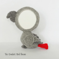 Crochet African Grey Photo Frame