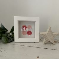 Floral Mum Shadow box frame small