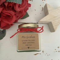 Christmas mini scented candle gift great for teacher