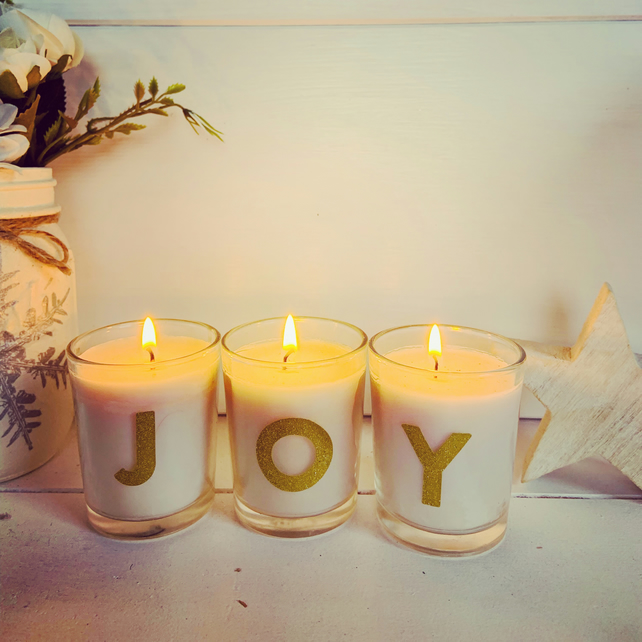 Set of 3 scented mini joy candles