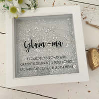 Glam-ma shadow box frame gift Christmas birthday etc