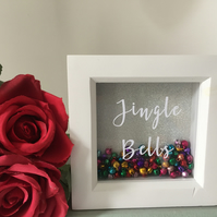 Jingle bells shadow box frame decoration
