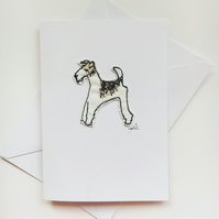 Foxy the Wire Fox Terrier Card