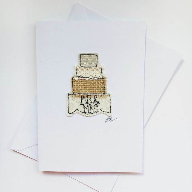 Wedding Cake Embroidery Card