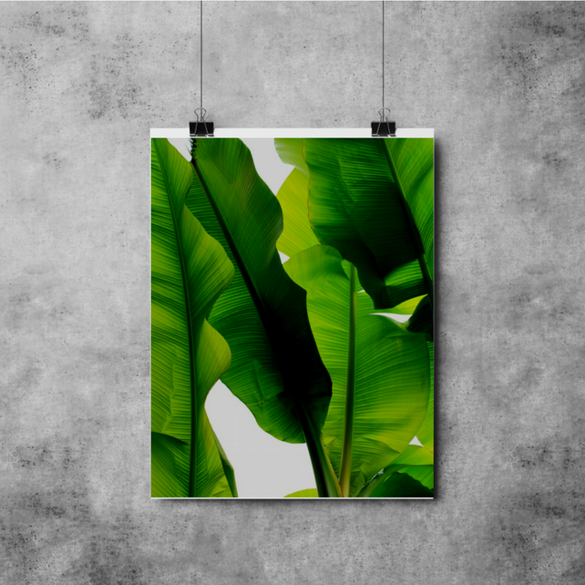 Full Page Botanical Leaves Print - A3