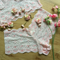 Peaches and cream hand dyed lace shortie