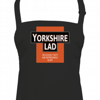 YORKSHIRE LAD- Deliciously Tasty Funny Parody Men's Kitchen Apron From FatCuckoo