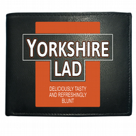 YORKSHIRE LAD- Deliciously Tasty Funny Parody Men's Leather Wallet WBF1010