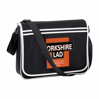YORKSHIRE LAD- Deliciously Tasty Funny Parody Retro Messanger Shoulder Bag