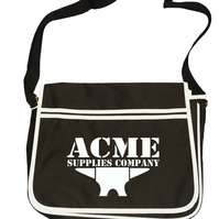ACME ANVIL- Looney animated cartoon inspired mens retro messenger bag SHB1020