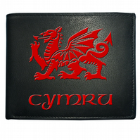 CYMRU FLAG OF WALES - WELSH REGIONAL PRIDE Graphic Men's Leather Wallet WBF1432