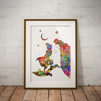 Aladdin Watercolor Print Wall Art
