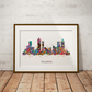Atlanta Watercolor Print Wall Art