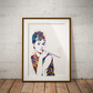 Audrey Watercolor Print Wall Art