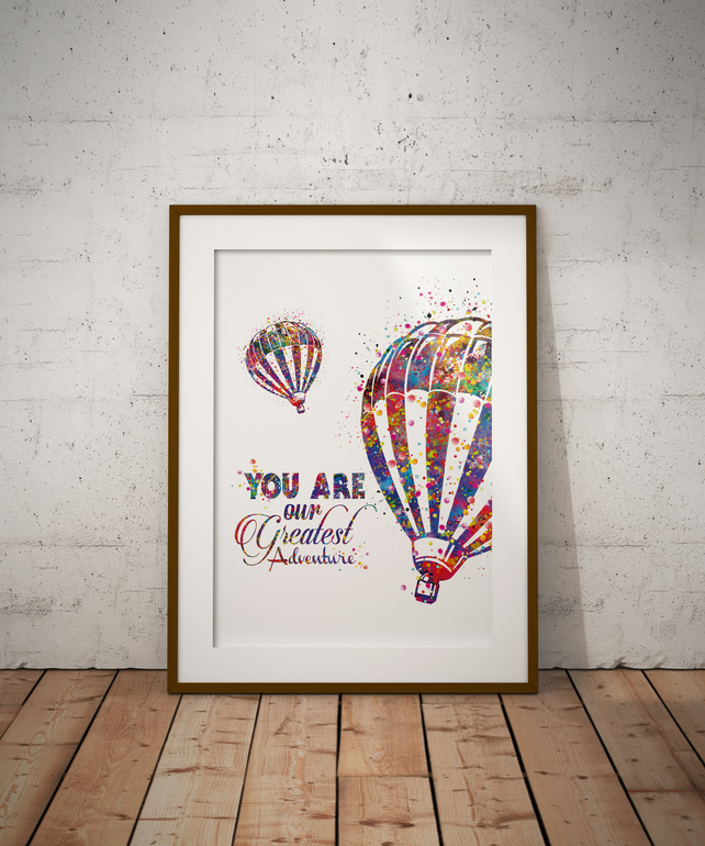 Balloon Quote Watercolour Print Wall Art