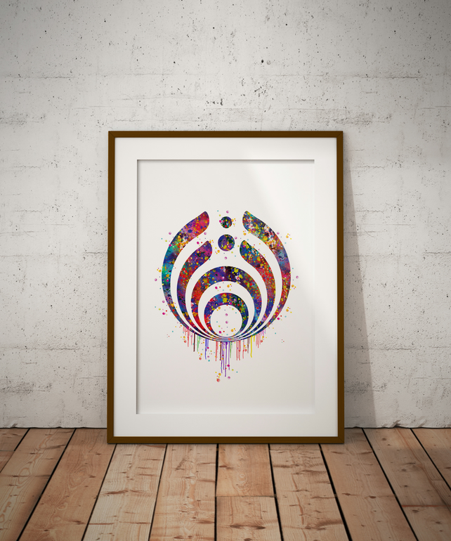 Bassnectar Watercolour Print Wall Art