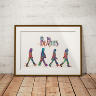 Beatles 2 Watercolour Print Wall Art