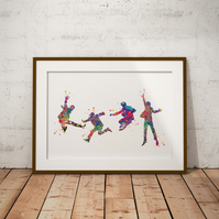 Beatles Watercolour Print Wall Art