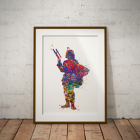 Boba Fett Watercolour Print Wall Art