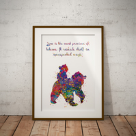 Brother Bear Watercolour Print Wall Art