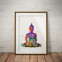 Buddha Watercolour Print Wall Art