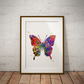 Butterfly Watercolour Print Wall Art