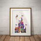 Castle 2 Watercolour Print Wall Art