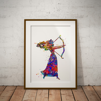 Brave Merinda Watercolour Print Wall Art