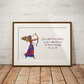 Brave Quote Watercolour Print Wall Art