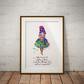 Alice in Wonderland Quote 7 Watercolor Print Wall Art