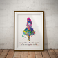 Alice in Wonderland Quote 8 Watercolor Print Wall Art