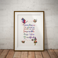 Alice in Wonderland Quote 1 Watercolor Print Wall Art