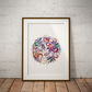 Abstract Flower Watercolor Print Wall Art