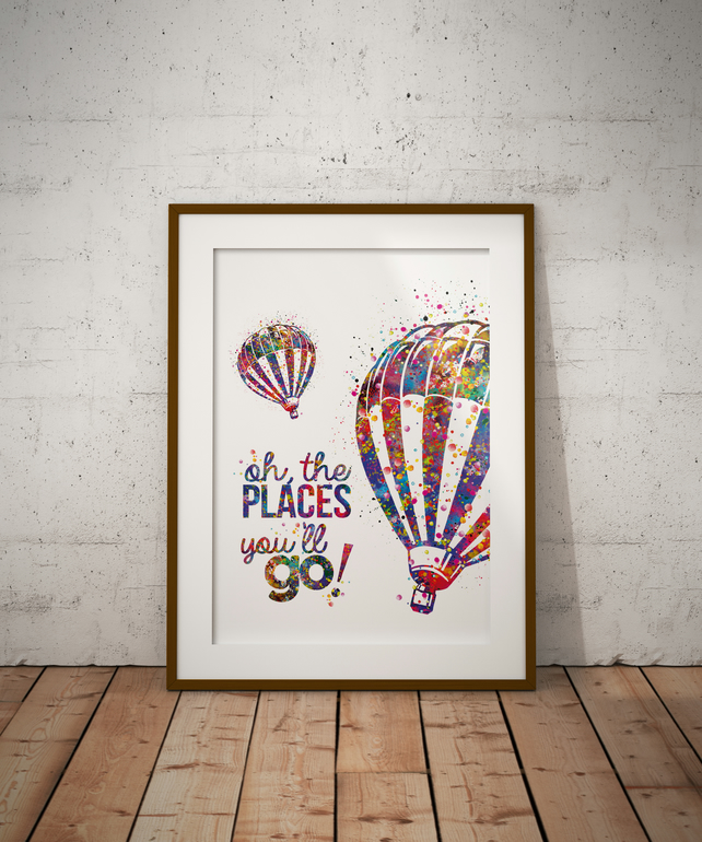 Dr Seuss Quote 1 Watercolour Print Wall Art