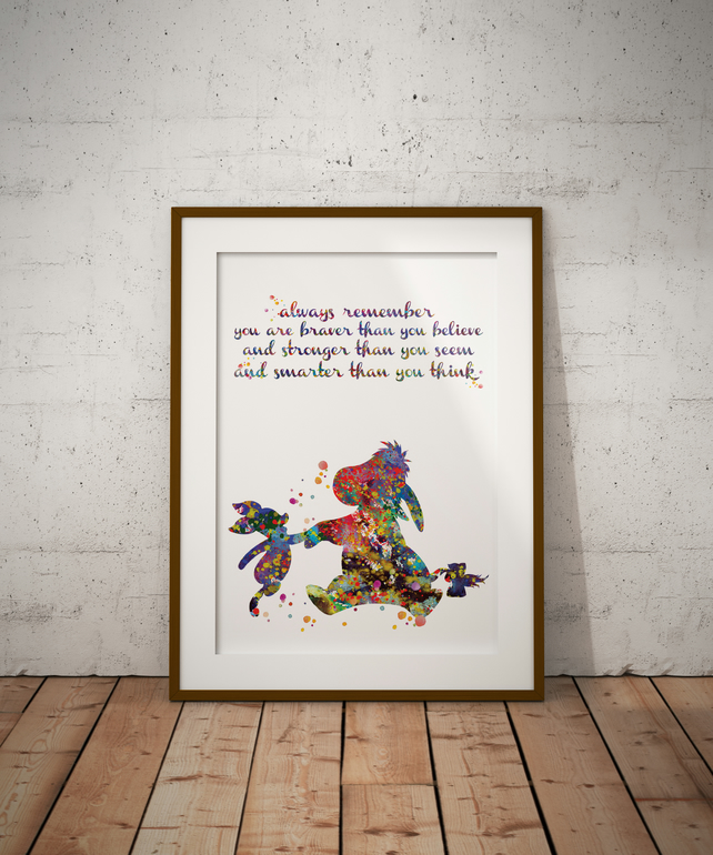Eeyore And Piglet Quote 2 Watercolour Print Wall Art