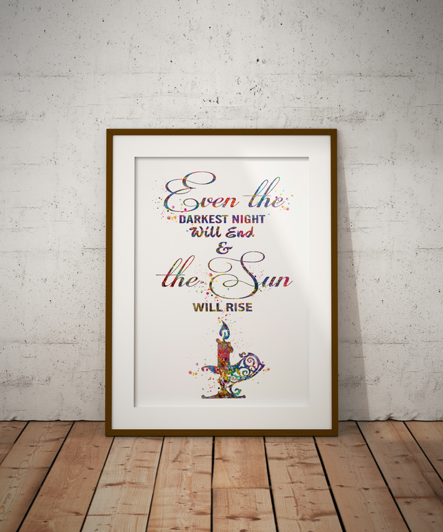 Even The Darkest Watercolour Print Wall Art