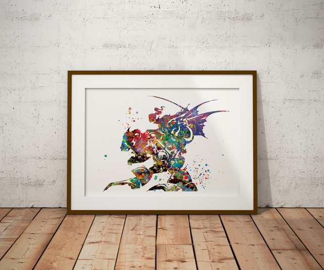 FF Logo Watercolour Print Wall Art