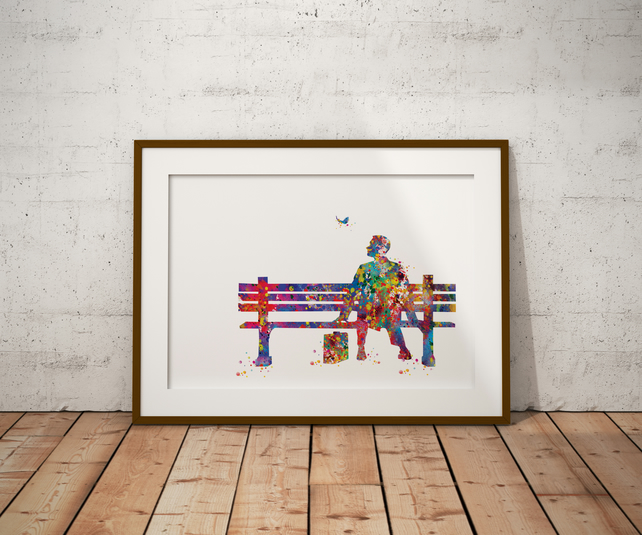Forrest Gump Watercolour Print Wall Art