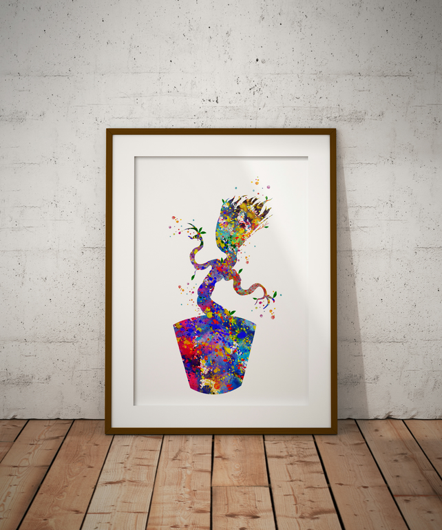Groot Watercolour Print Wall Art