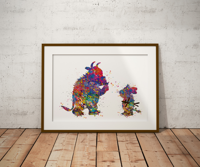 Gruffalo And Child Watercolour Print Wall Art