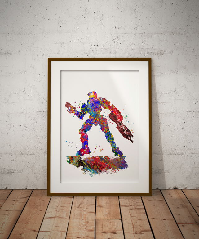 Halo Watercolour Print Wall Art