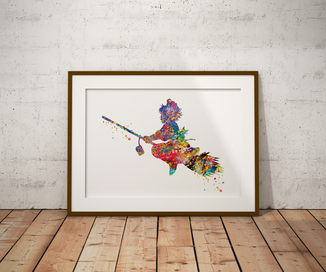 Kiki's Delivery Service Watercolour Print Wall Art