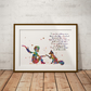 Le Petit Fox Quote 2 Watercolour Print Wall Art