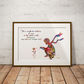 Le Petit Prince Rose Watercolour Print Wall Art