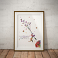 Le Petit Birds Quote French Watercolour Print Wall Art
