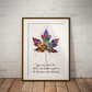 Maple Leaf Quote Watercolour Print Wall Art