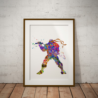 Michale Angelo Watercolour Print Wall Art