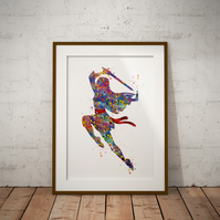 Mulan Watercolour Print Wall Art