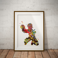 Naruto Watercolour Print Wall Art